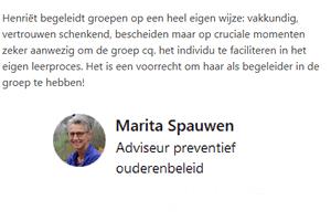 Aanbeveling intervisie Marita Spauwen